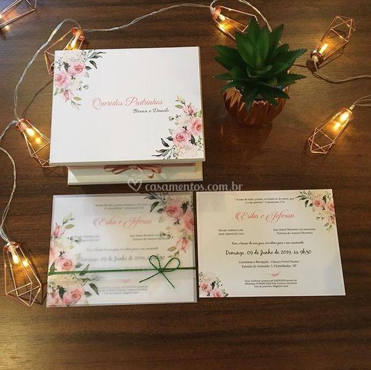 Convite Padrinhos e convidados