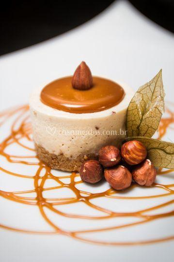 Mini torta de avelã