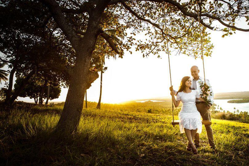 Noivos em seu pré wedding