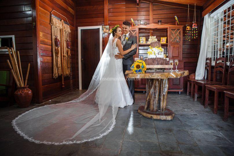 Casal na recepção