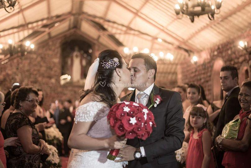 Os noivos, buquê lindo