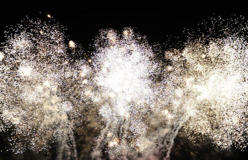 Casamentos com fogos de artifício