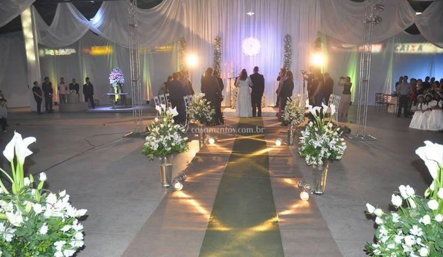 Na cerimônia de casamento