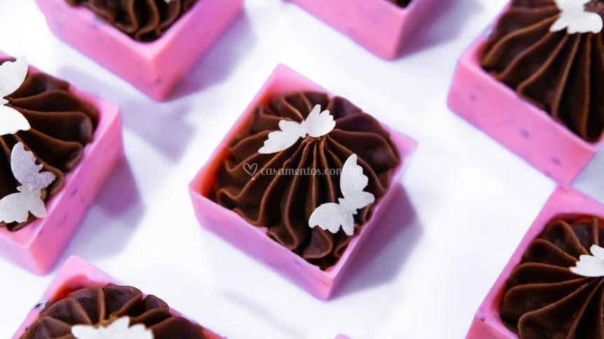 Chocolate frutas vermelhas