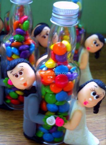 Garrafa com doces