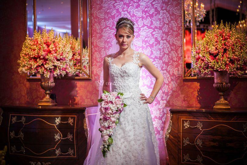 Noiva glamurosa
