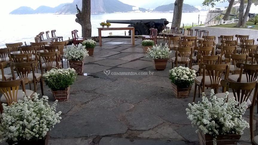 Cerimônia em ar livre