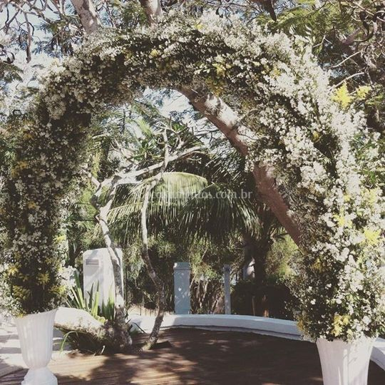 Arco para casamento em arlivre