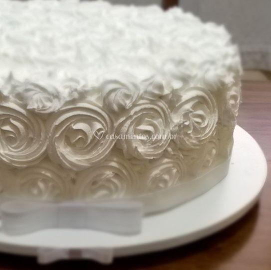 Bolo rosetas em  Marshmallow