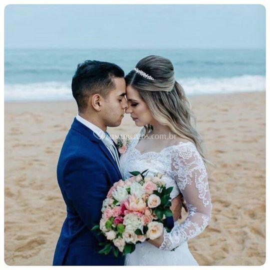 Noiva estilo praia