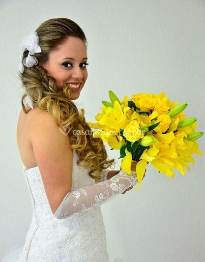 Bela entre as flores