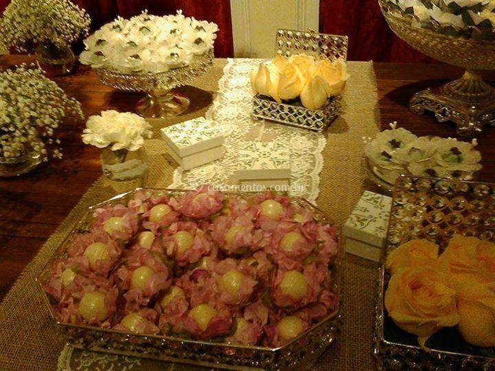Decoração bolo e doces