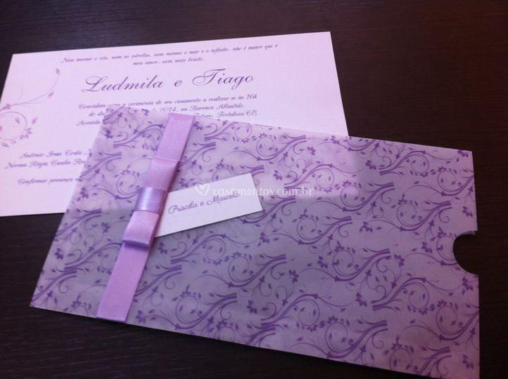 Envelope em papel vegetal