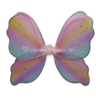 Asa de borboleta com purpurina