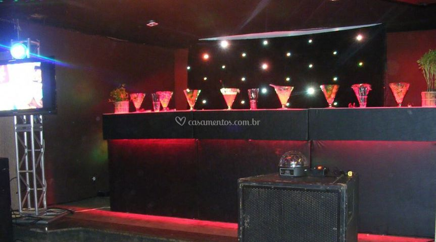 Bar com curtina de LED