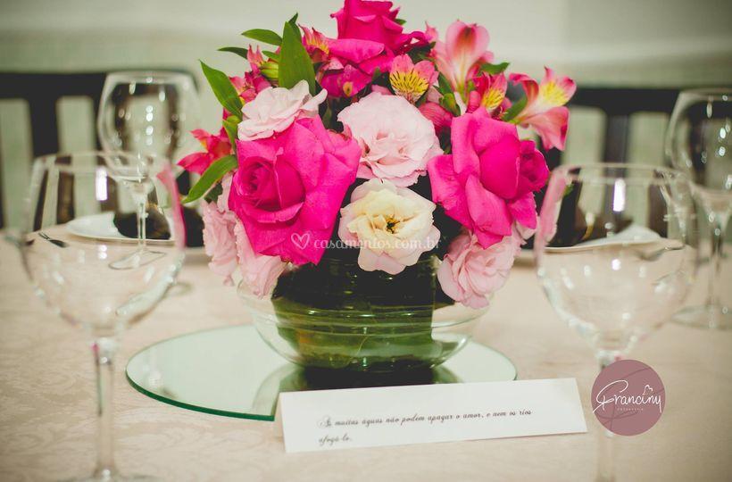 Arranjo mesa dos convidados