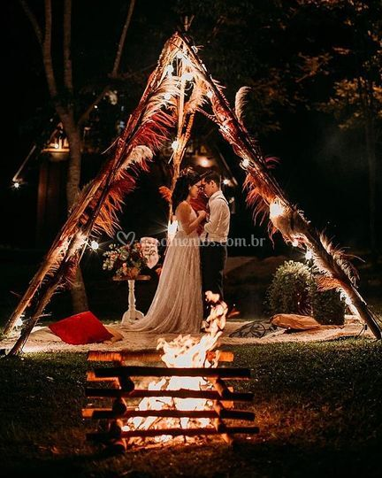 Casamento na cachoeira´RO