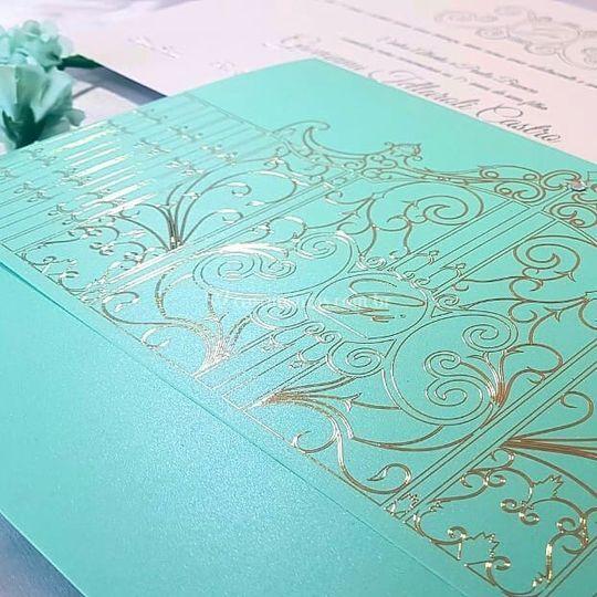 Azul Tiffany com metalização