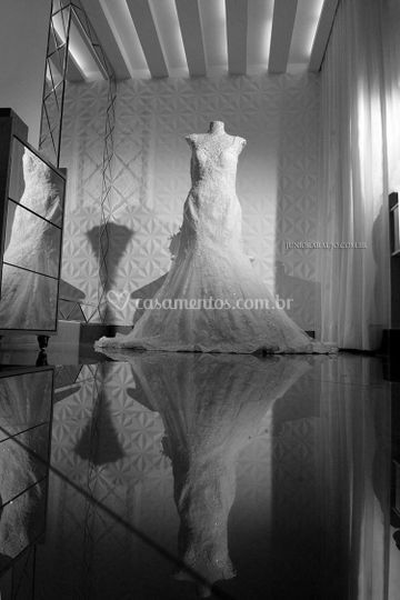 O vestido.