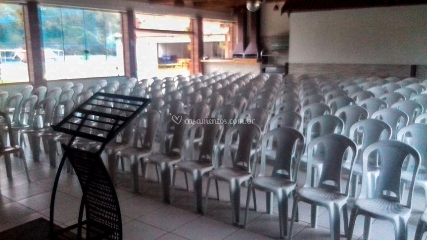 Cadeiras para apresentações