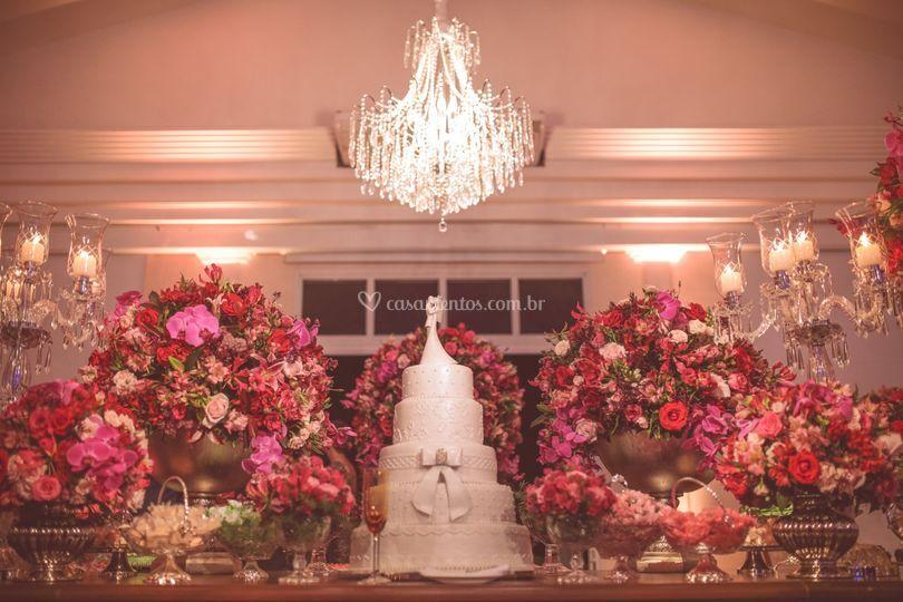 Casamento tons de pink e bordô