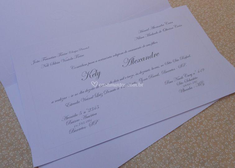 Convite Keli e Alexandre