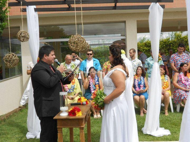 Tema havaiano com areias