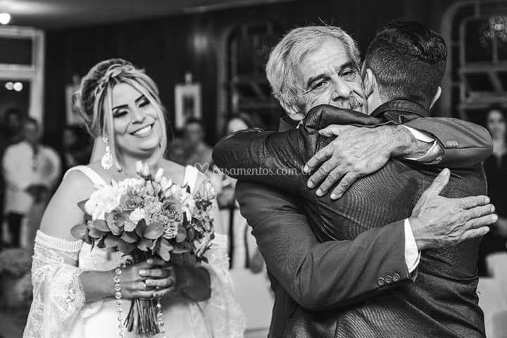A hora de receber a noiva