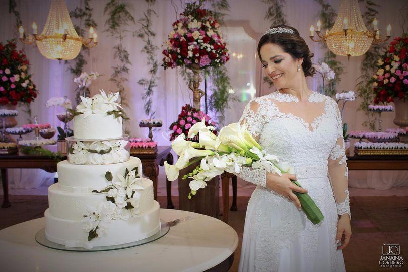 A emoção da noiva