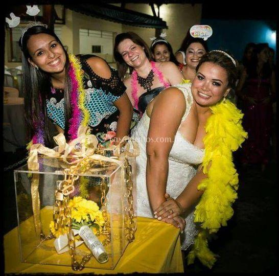 Caixa de Acrílico Buquê Noiva