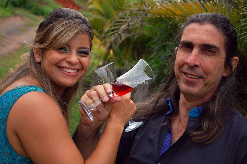 Noivos Elisângela e Carlos