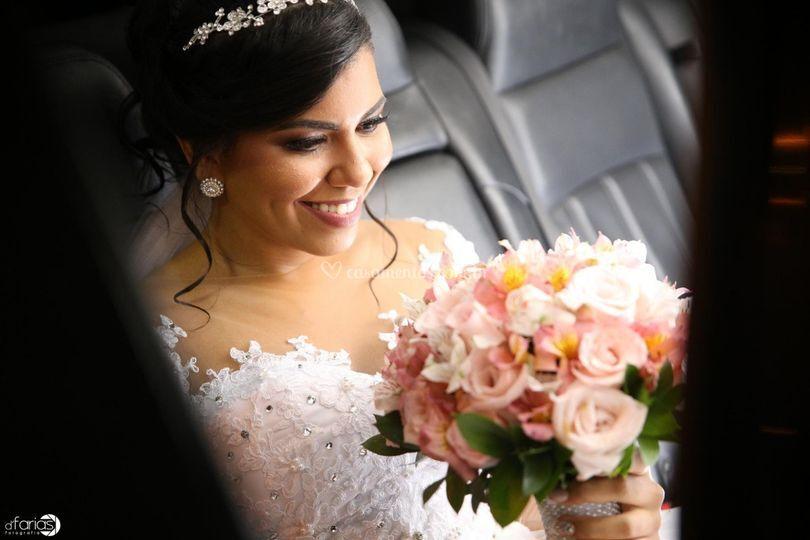 Mariana Telles dia de noiva