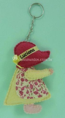 Boneca Camponesa Creme