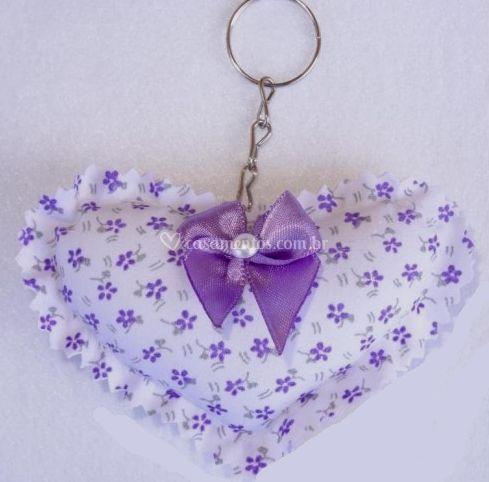 Coração Floral Lilás