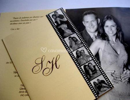 Convite com foto dos noivos