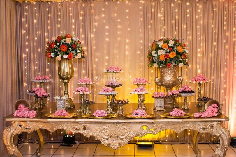 Nossa mesa de chocolates!
