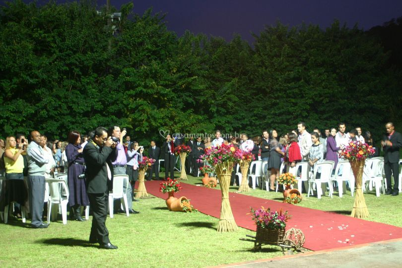 Cerimônia no gramado