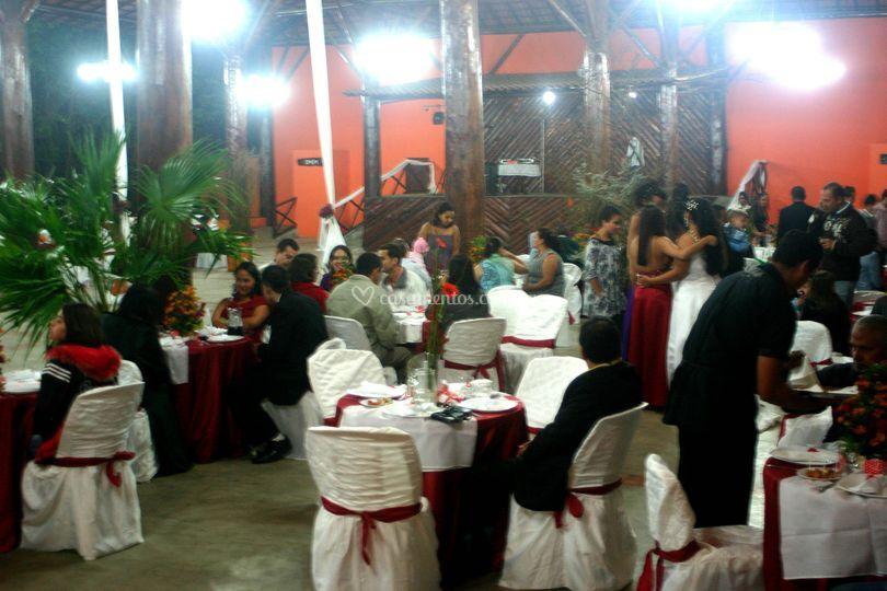Festa no salão