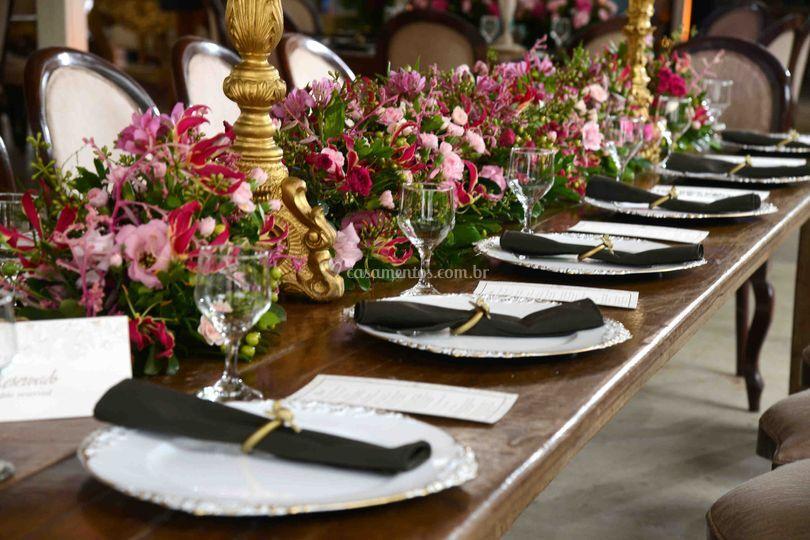 Detalhe decoração mesa