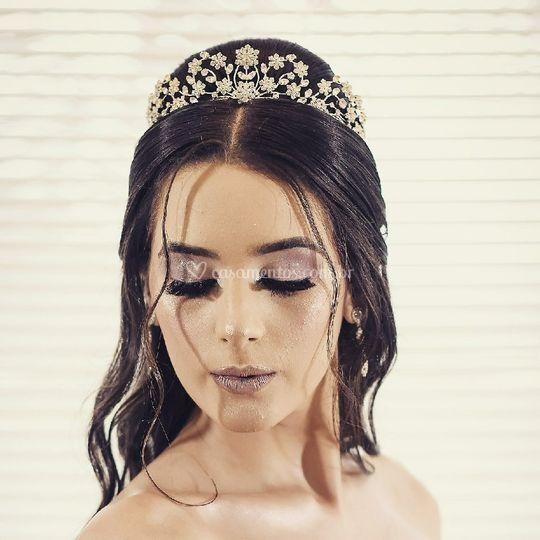Coroa Princesa Flores Debutant