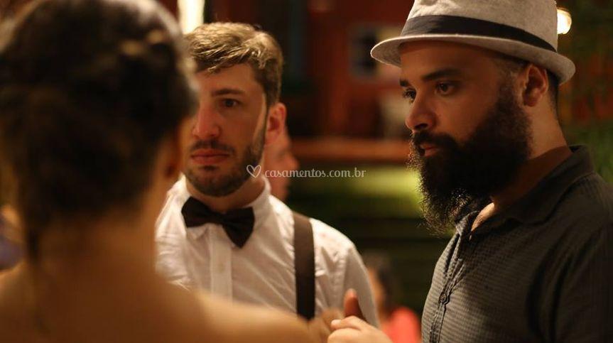 Thiago Almeida e os noivos :)