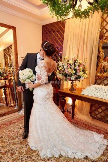 Vestido de noiva (costas)