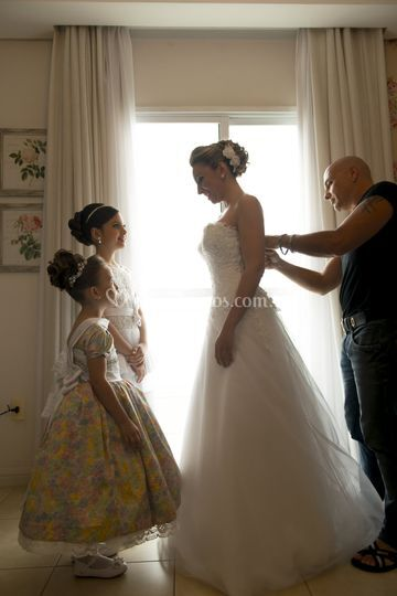 Damas e noiva