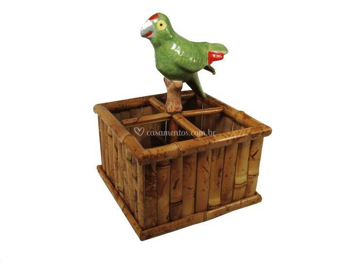 Porta talher de bamboo