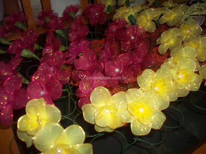 Mini rosas de meia de seda
