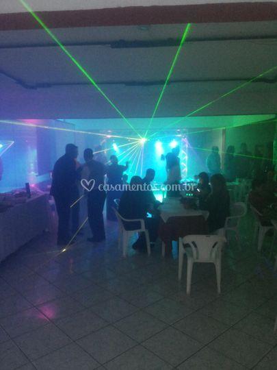 Trave de Luz com Laser Rgb