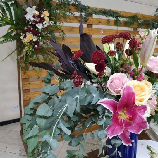 Detalhes arranjo floral