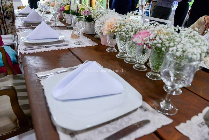 Decoração - Mesa dos Noivos e