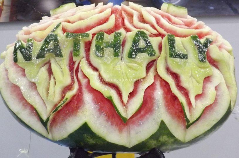 Arte em frutas