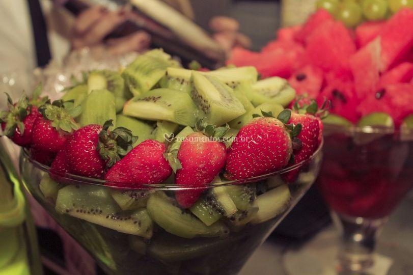 Frutas higienizadas